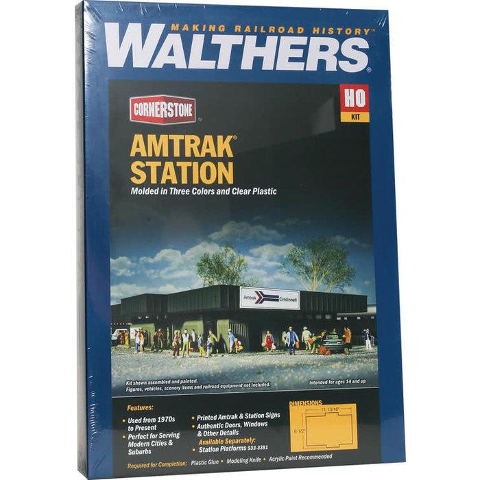 HO Amtrak Station Kit