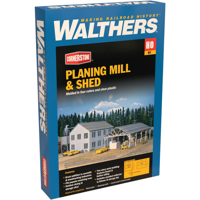 HO Planing Mill & Shed Kit