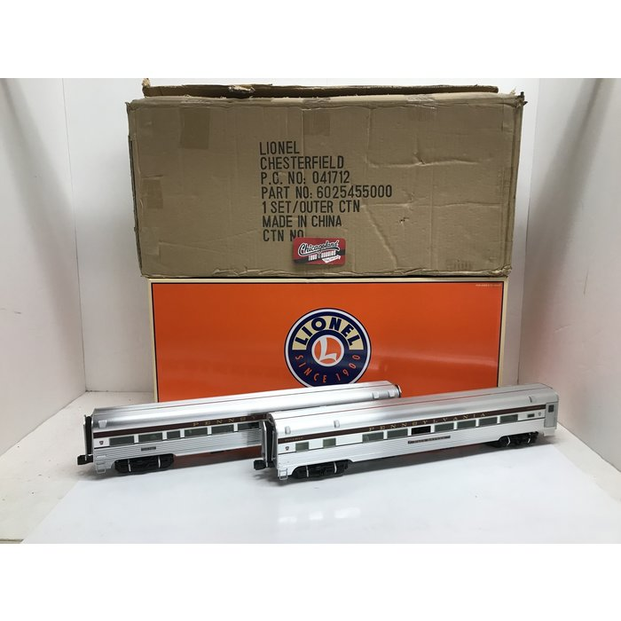 "Lionel 6-25455 O 18"" Alum. PRR Cong. Pass. 2-Car Add-on"