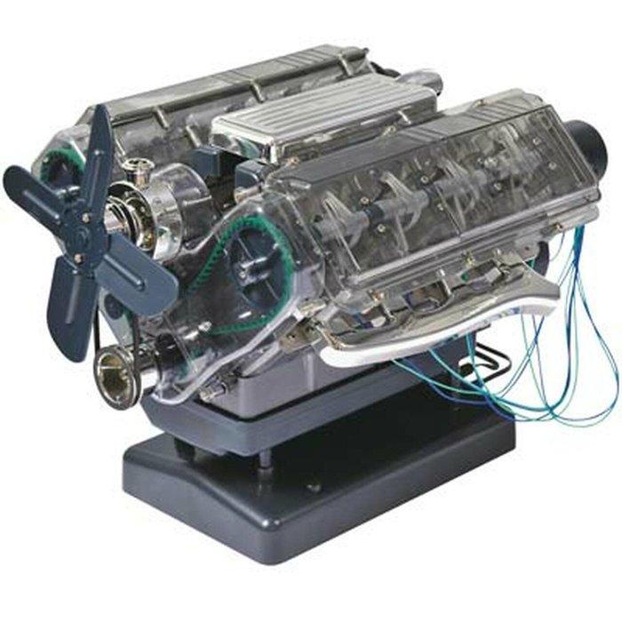 V8 Duel Overhead Cam Engine - Visible