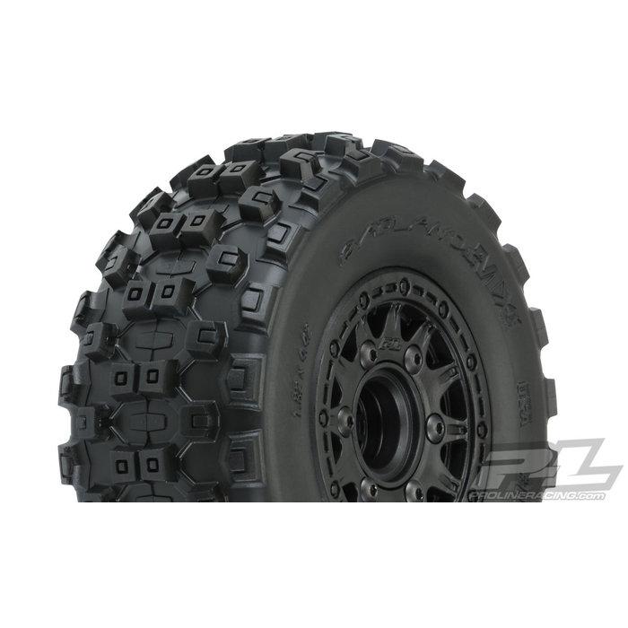 "1/10 Badlands MX SC 2.2""/3.0"" M2 (Medium) All Terrain Tires Mounted"