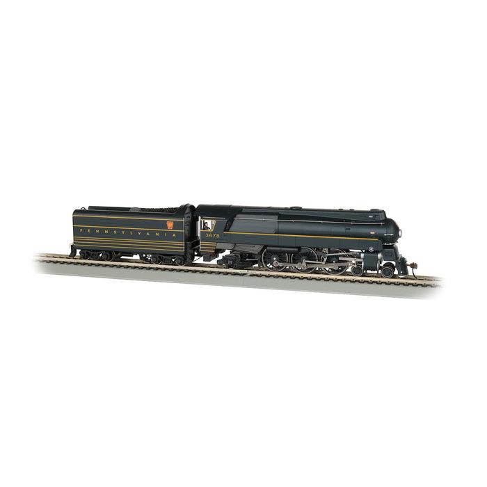 HO Streamlined K4 4-6-2 Pacific Steam Loco PRR #3678/WOWSoun
