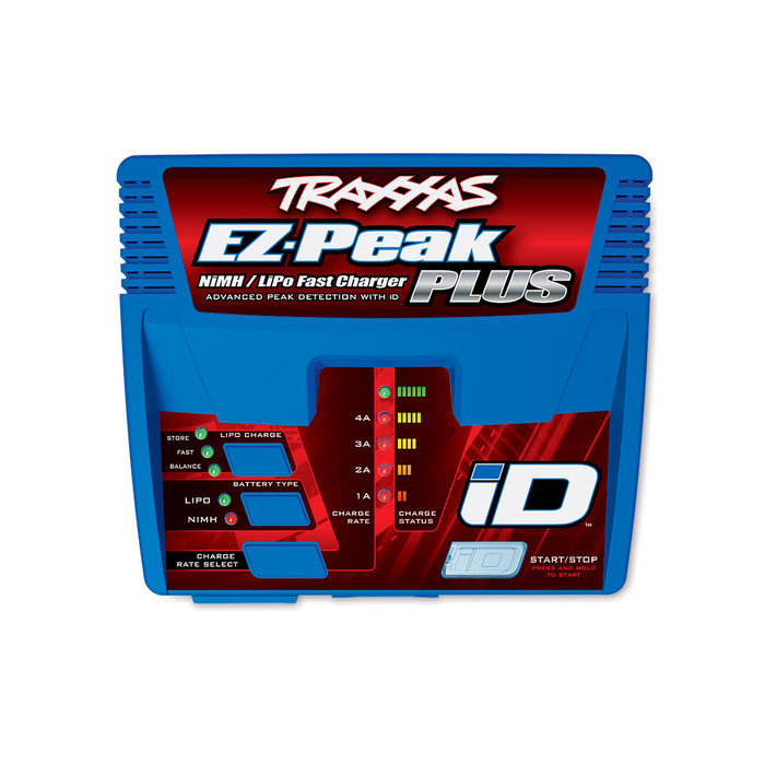 Charger, EZ-Peak® Plus, 4 amp, NiMH/LiPo with iD® Auto Battery Identification
