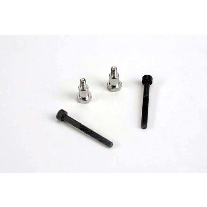 Shoulder screws, steering bellcranks (3x30mm cap-head machine) (2)/ draglink shoulder screws (chrome) (2)