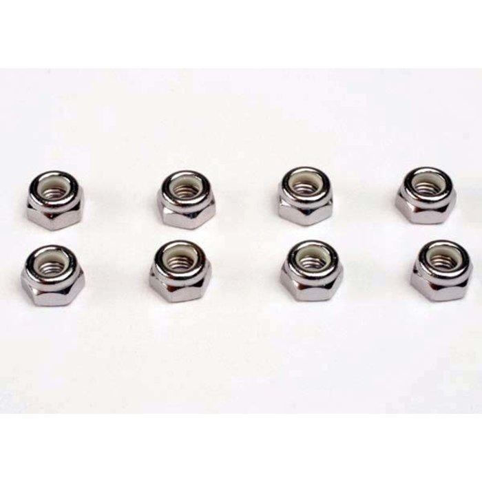 Nuts, 5mm nylon locking (8)