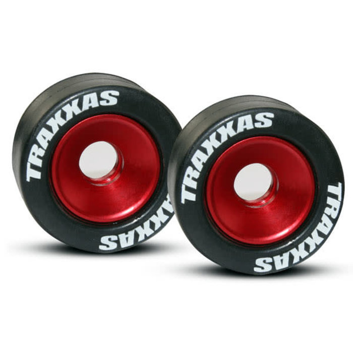 Wheels, aluminum (red-anodized)
