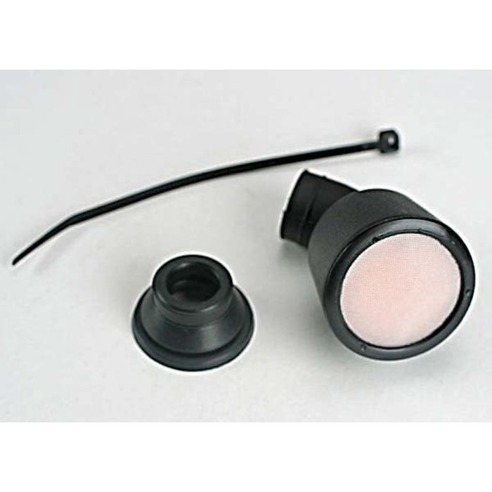 Air filter housing/ foam insert/ straight base/ angled base/ cable tie (1-each) (TRX® 2.5, 2.5R, 3.3)