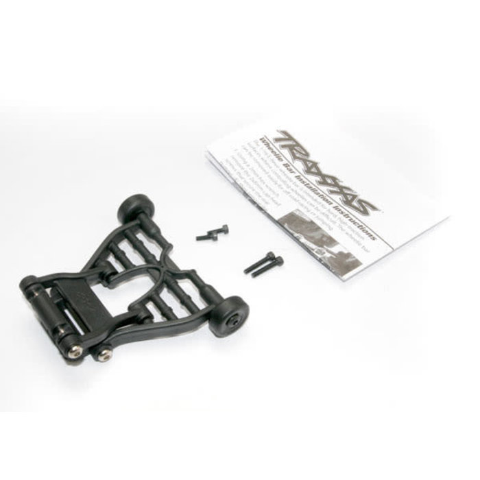 Wheelie bar, assembled