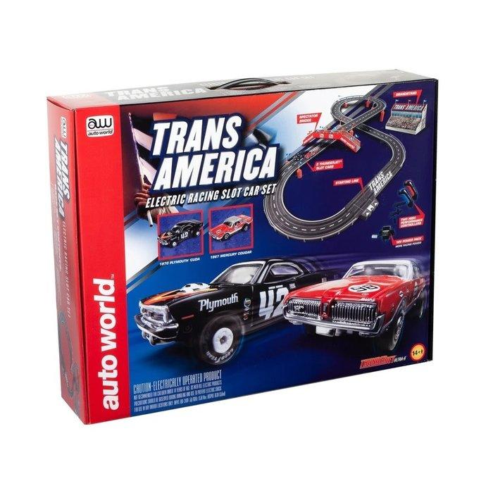 10' Trans America Slot Race Set1970 Plymouth Cuda - Swede Sa