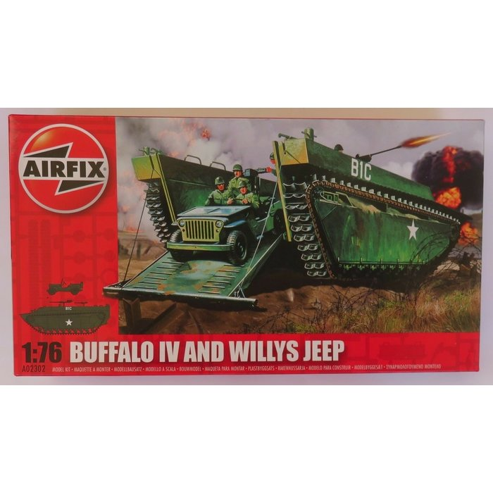 1:76 Buffalo IV and Willys Jeep
