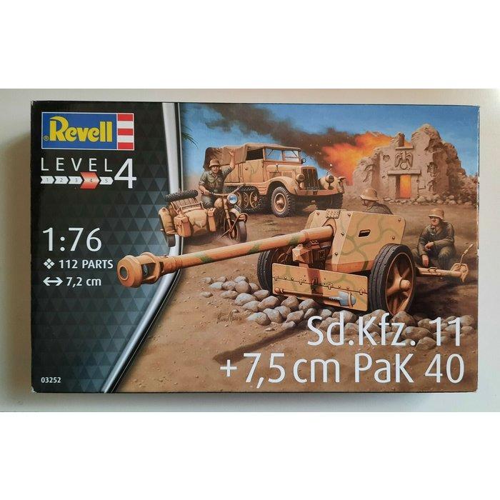 1:72 German Half-Track & Gun