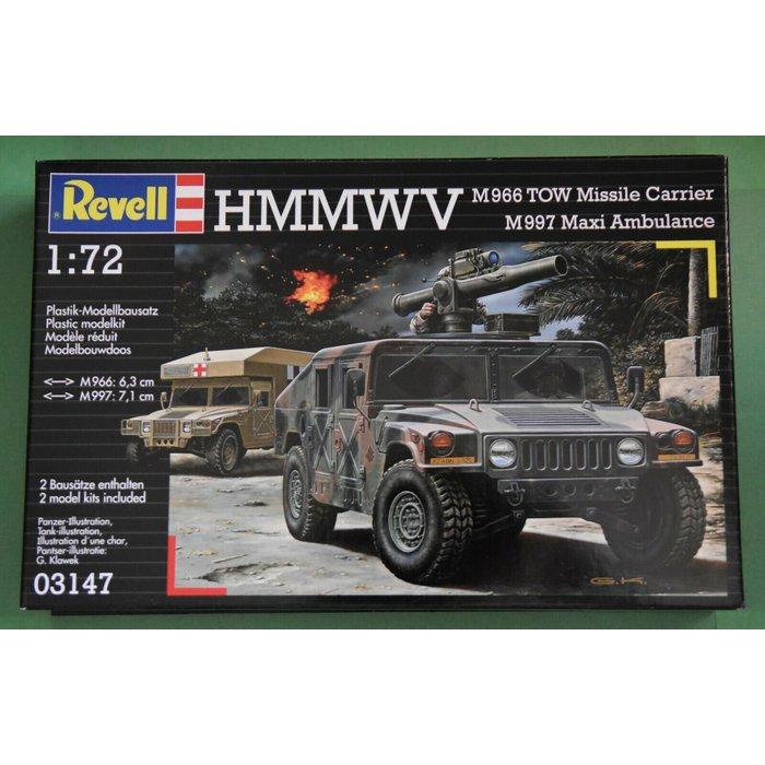1:72 HMMWV Missile Carrier & Maxi Ambulance