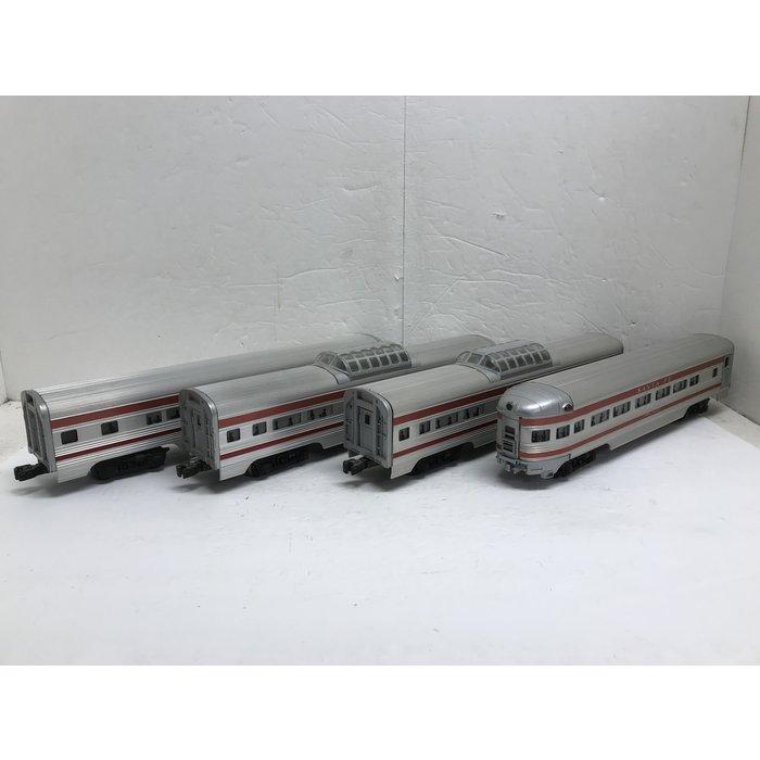 Lionel O Aluminum Pass. 4-Car Set SF (No Box)
