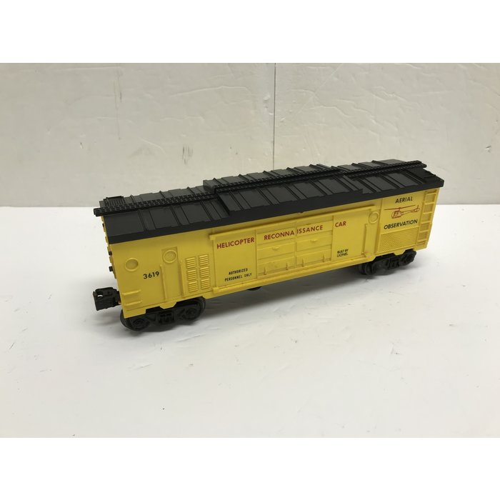 Lionel 3619 O Helicopter Car Dark Yellow