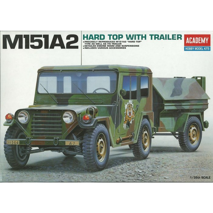 1:35 M151A2 Hard Top With Trailer