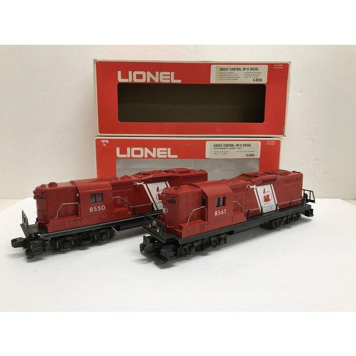 Lionel 6-8550/6-8561 O GP-9 PWRD & Dummy Set CNJ