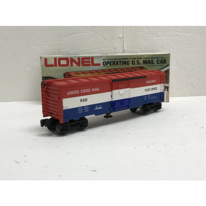 Lionel 6-9301 O Operating U.S. Mail Car Rd#9301