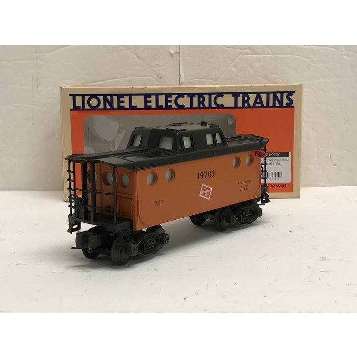 Lionel 6-19701 O Porthole Caboose Milw. Rd. lighted