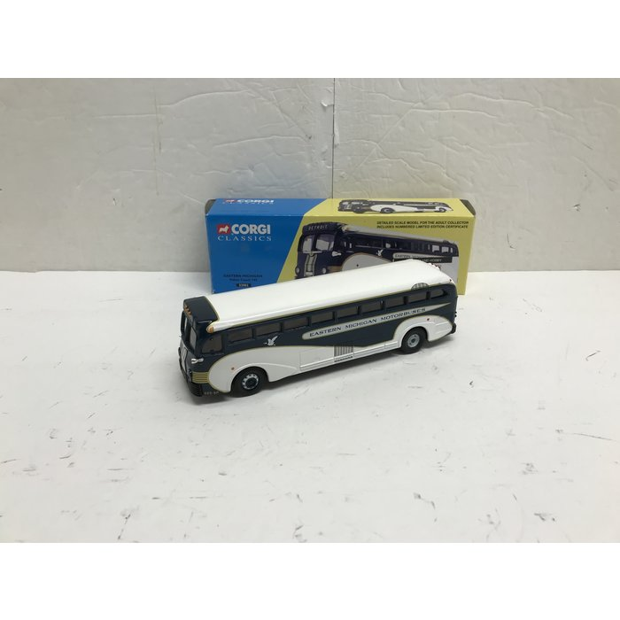 Corgi 53903 1/50 Yellow Coach 743 Eastern Michigan
