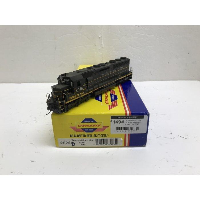 Athearn G67063 HO SD45-2 Seaboard Coast Line 2046
