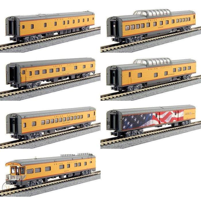 N UP Excursion Train 7-Car Set w/Interior Lighting