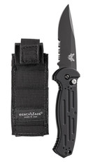 Benchmade AFO II Auto Serrated Black, Black Blade