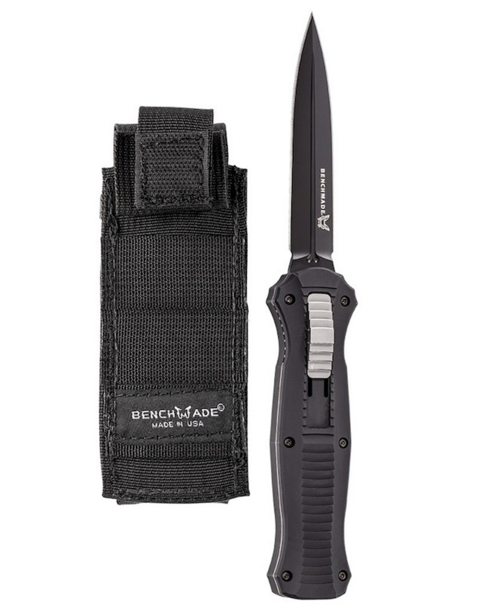 Benchmade BM-McHenry Infidel OTF Auto Spear Point Black Blade