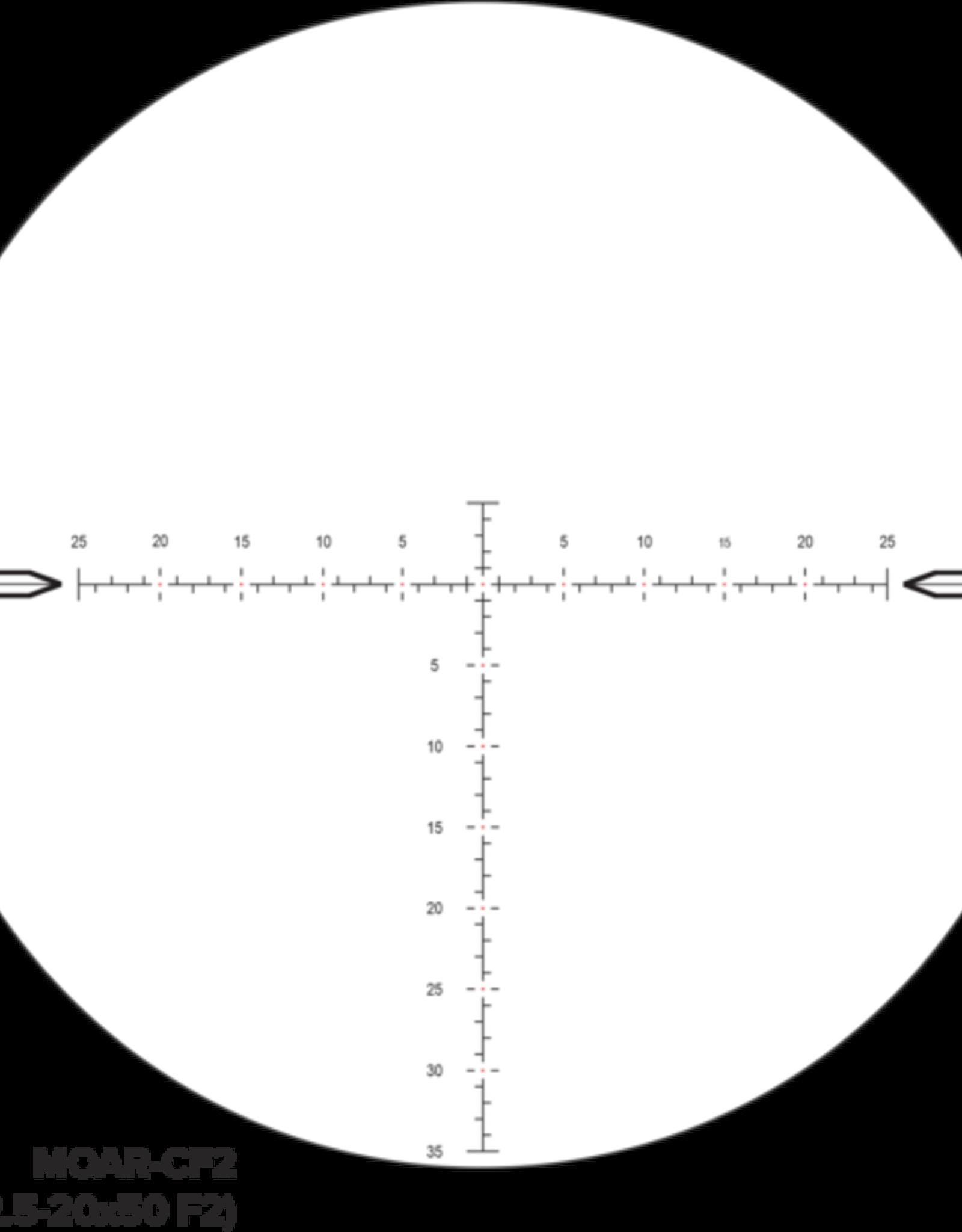 Nightforce NX8 2.5-20x50 Zstop MOAR CF2 reticle