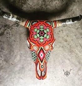 OJO PECOSO cabeza de vaca natural pintada a mano OJO PECOSO