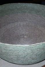 canastas hoja de palma makaua, redonda D20 HILOS EN NOGADA
