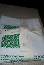servilleta bordada a mano atla HILOS EN NOGADA