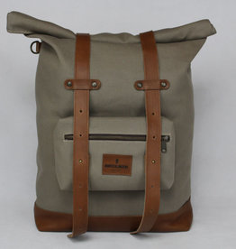 MONTE BLANCO 04 ANDES BACKPACK CANVAS Y PIEL BEIGE/TAN, MONTE BLANCO 04