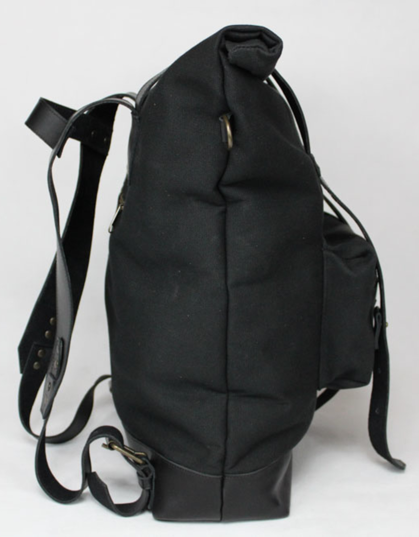 MONTE BLANCO 04 ANDES BACKPACK CANVAS Y PIEL NEGRO, MONTE BLANCO 04