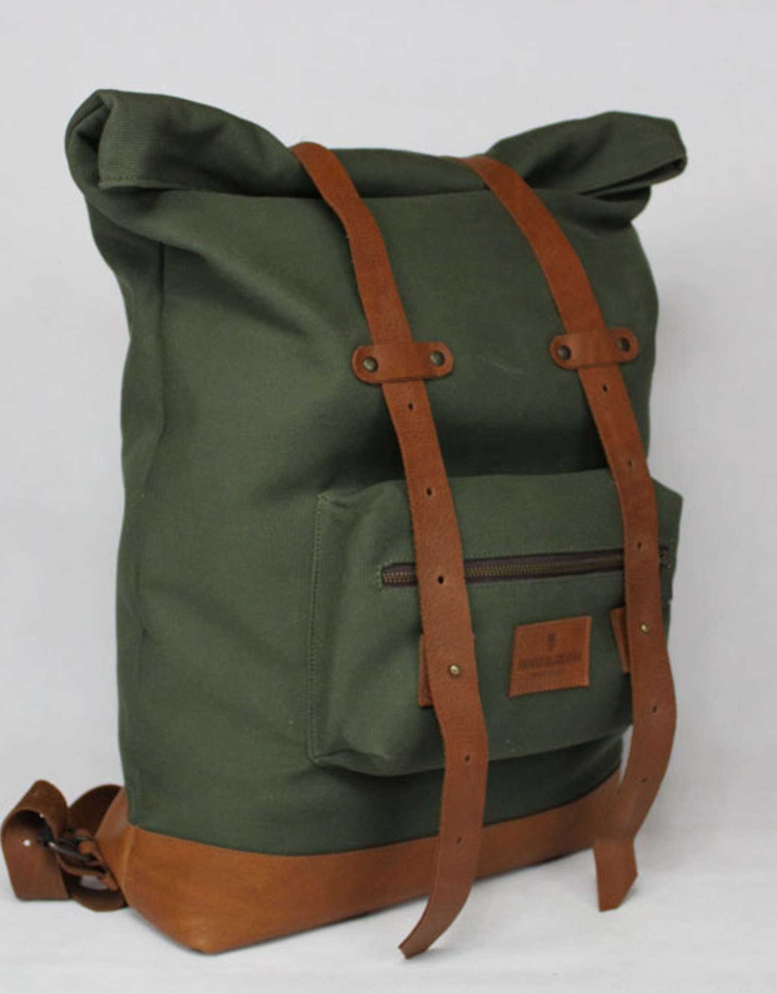 MONTE BLANCO 04 ANDES BACKPACK CANVAS Y PIEL VERDE/TAN, MONTE BLANCO 04