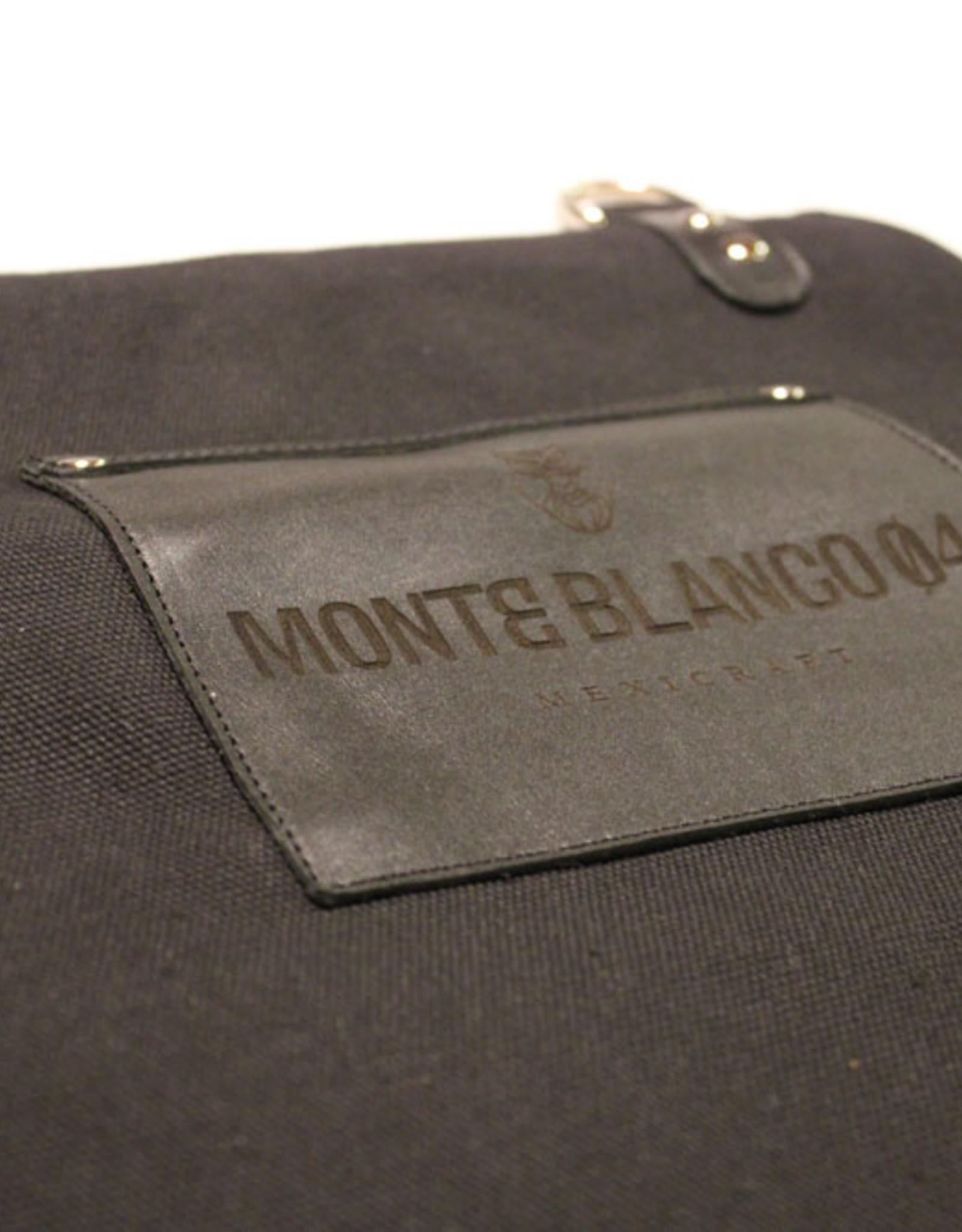 MONTE BLANCO 04 APRON CANVAS Y PIEL NEGRO, MONTE BLANCO 06