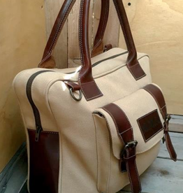 MONTE BLANCO 04 ALPES BRIEFCASE PIEL/CANVAS VINO Y BEIGE, MONTE BLANCO 04