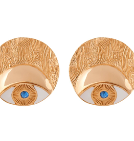 CAROLINA ALATORRE ADELE CIRCLE EARRINGS, CAROLINA ALATORRE