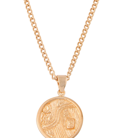 CAROLINA ALATORRE ADELE COIN NECKLACE, CAROLINA ALATORRE