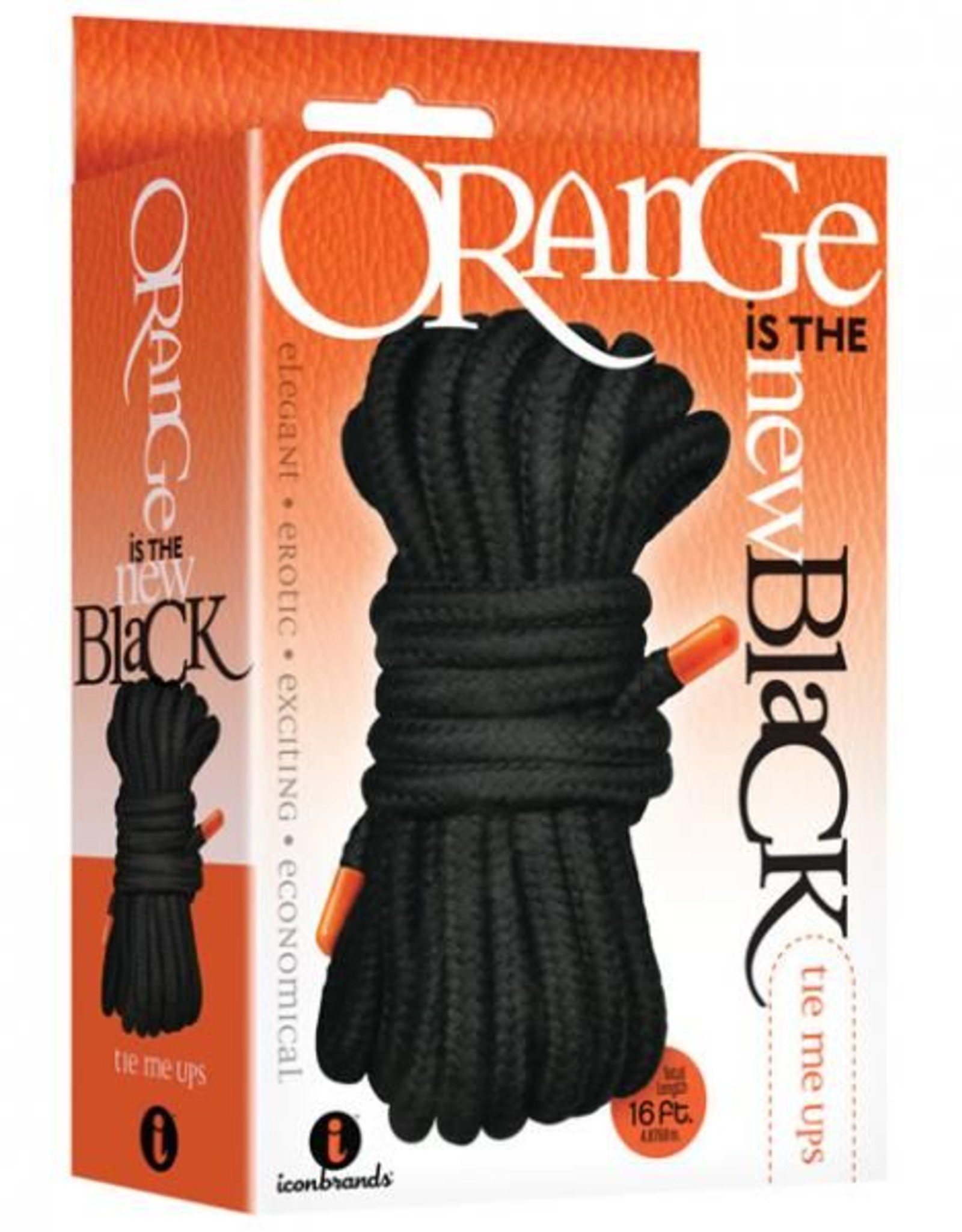 The 9's Orange is The New Black Tie Me Ups Rope Black