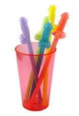 Rainbow Glowing Naughty Straws