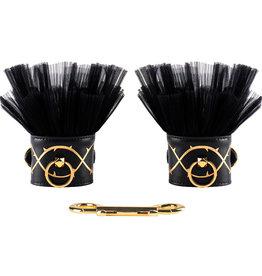 Zalo Leather Thorn Handcuffs