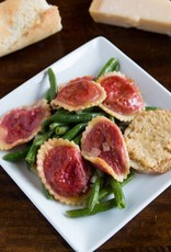 FliP Frozen Beet And Goat Cheese Ravioli With Green Beans