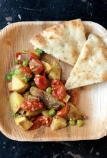 FliP Frozen Peas and Potato Curry with Naan Bread