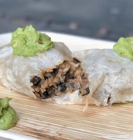 FliP Frozen Black bean burrito with roasted chicken