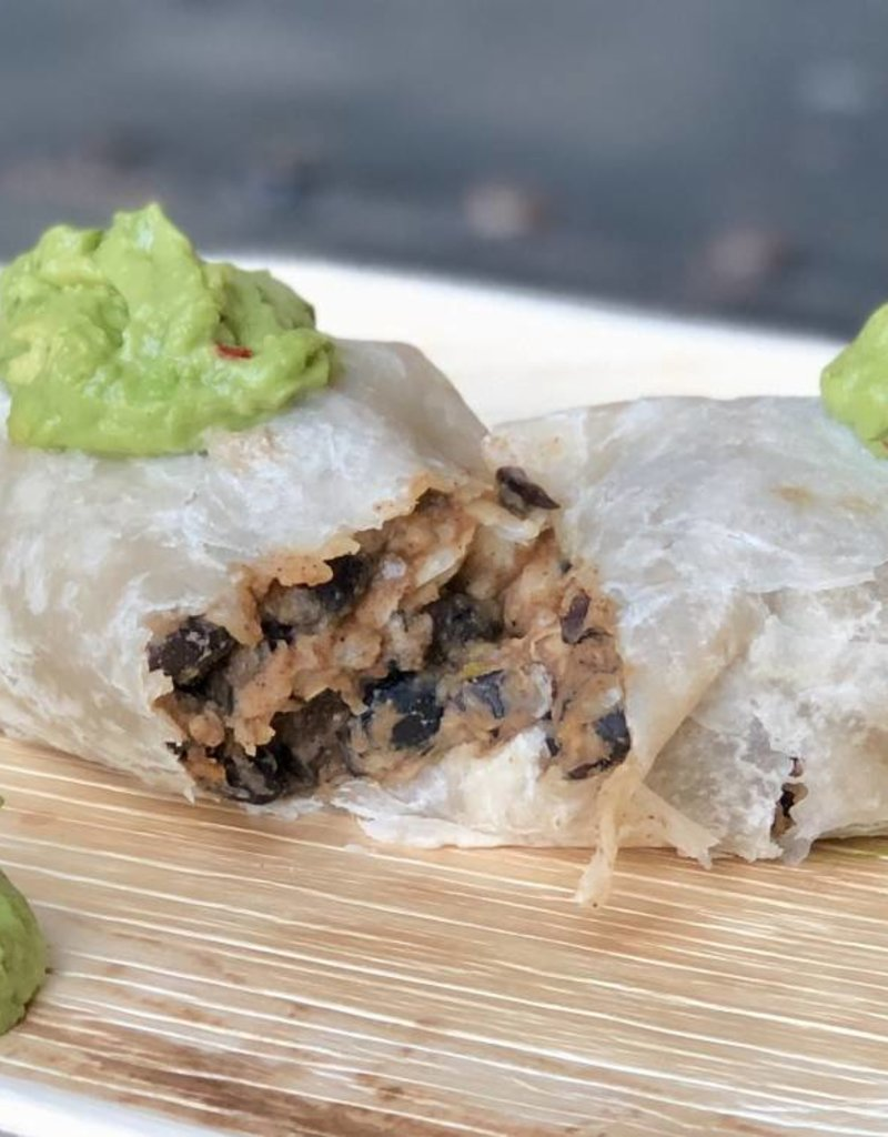 FliP Frozen Black Bean Burritos with Guacamole