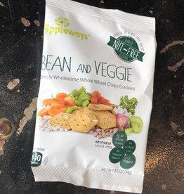 Darlington Bean and Veggies Whole Wheat Crispy Crackers