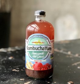 KombuchaYum Pomegranate Root Ginger Kombucha