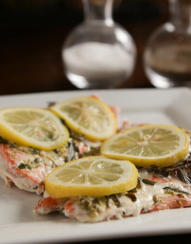 FliP Frozen Salmon With Mustard and Herbs