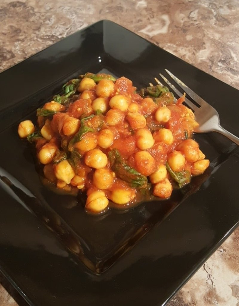 FliP Frozen Curried Chick Peas with Spinach Lunch