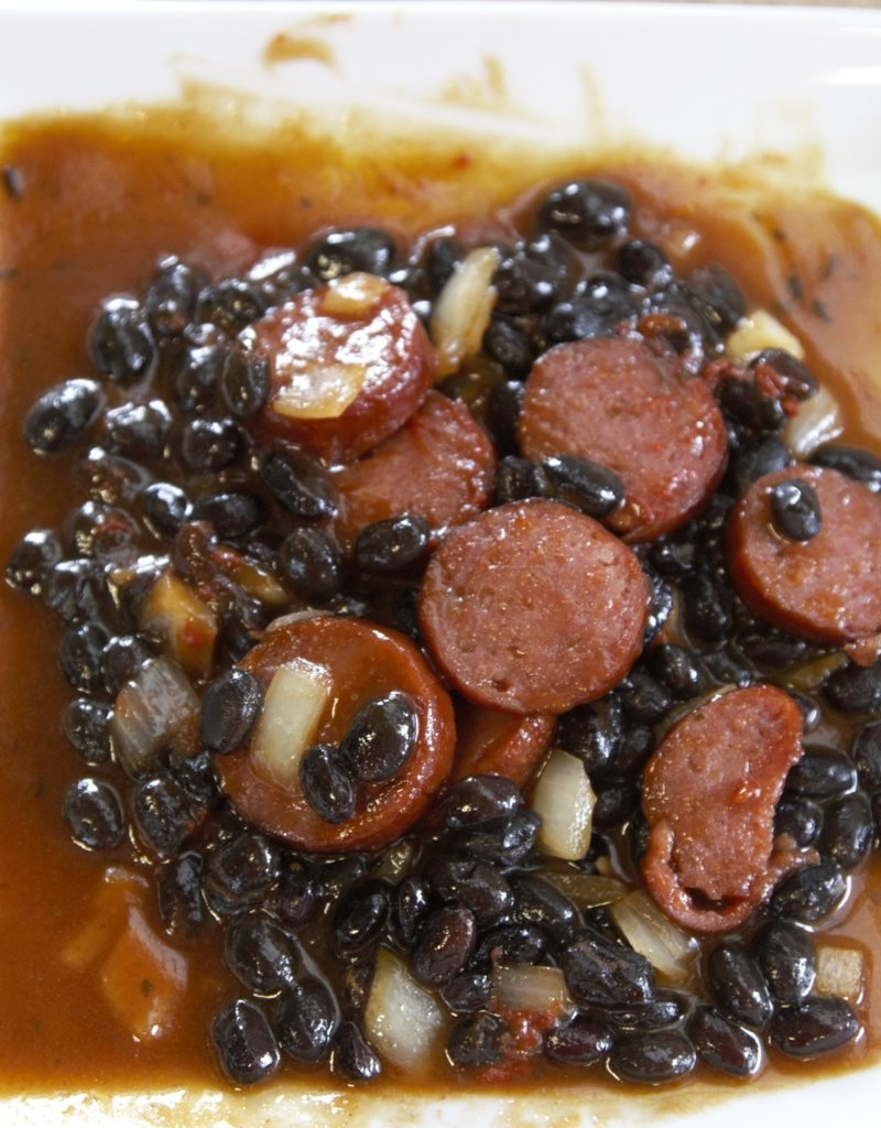 BBQ Black Beans with Sausage